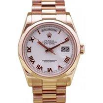 Rolex Day-Date 36 118205-WHTRDP White Roman Rose Gold Presiden...
