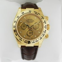 Rolex DAYTONA 18K Yellow Gold Watch on Leather Strap 2016