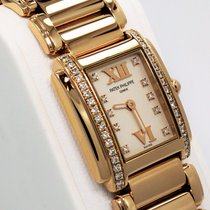 Patek Philippe Twenty 4 Diamond 18k Rose Gold Ladies Watch...