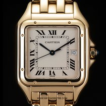 Cartier 18k Yellow Gold Silver Dial Large Panthere Gents