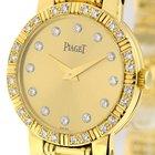Piaget Dancer Ladies 18k Yellow Gold Champagne Diamond Dial...