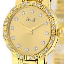 Piaget Dancer Ladies 18k Yellow Gold Champagne Diamond Dial...