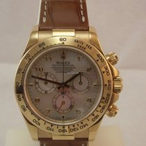 Rolex DAYTONA ORO GIALLO PELLE MOTHER OF PEARL