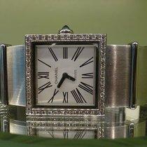 Chanel vintage mademoiselle steel and diamants quartz
