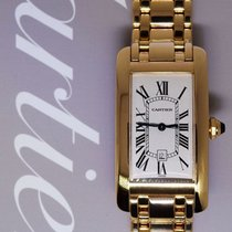 Cartier Tank Americaine 18k Yellow Gold Automatic Watch On...