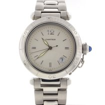 Cartier Pasha Silver Dial 39mm Automatic Steel Mens Watch 1040
