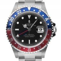 Rolex GMT Master II Rectangular Rot Blau Pepsi Stahl Automatik...