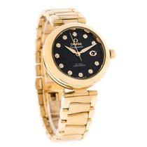 Omega Deville Ladymatic Diamond 18K YG Swiss Automatic Watch...