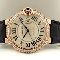 Cartier Ballon Bleu Rose Gold Diamonds Guilloche 42 mm (Full Set)