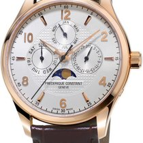 Frederique Constant Runabout Silver Dial Brown Leather...