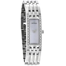 Movado Esperanza Diamond Ladies MOP Stainless Steel Watch 0606302