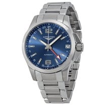 Longines Conquest GMT Automatic Blue Dial Mens Watch L3.687.4....