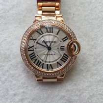 Cartier Ballon Bleu 33mm Pink Gold with diamond