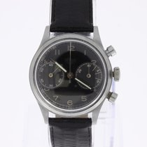 Heuer Vintage Chronograph Steel 2 Register screwed caseback