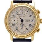 Tissot BRIDGEPORT T71343533 18k Yellow Gold on Black Leather