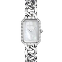 Chanel Premiere H3255 Steel MOP and Diamond Watch NEW
