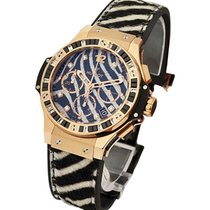 Hublot Big Bang 41mm Gold Zebra Bang Rose Gold Diamonds