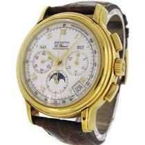 Zenith 18K Gold El Primero Chronometre Moon phase 0240410,...