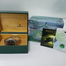 Rolex SUBMARINER Stainless Steel Watch Black Dial 2003 Box/Papers