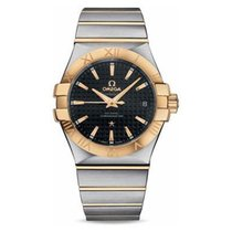 Omega Constellation Co Axial in 2 Tone with Yellow Gold Bezel