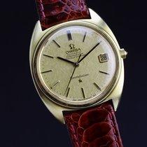 Omega Constellation 168009 'linen dial' vintage gold