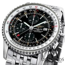 Breitling Navitimer World Gmt Black Face Chronograph A24322...