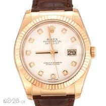 Rolex Datejust 116135 Roségold Diamant Full Set ungetragen...