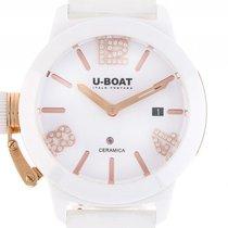 U-Boat Italo Fontana Classico White Keramik Roségold Kautschuk...