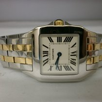 Cartier Santos Demoiselle 18kt  And Steel Midsize Ladies Watch...