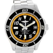 Breitling Superocean 42 Abyss Black Yellow Dial Automatic...