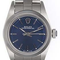 Rolex Lady Oyster Perpetual Ladies Watch 76080 Blue Dial