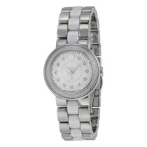 Movado Cerena Silver Dial Stainless Steel White Ceramic Ladies...