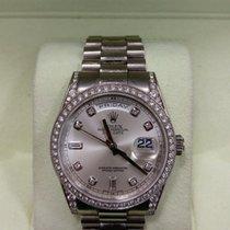 Rolex 118389A DayDate White Dial Original Diamond bezel,Lugs
