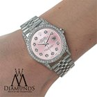 Rolex Oyster Perpetual Datejust 36mm Diamonds Pink Dial...