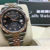 Rolex Cally - 116231 J 36mm Datejust RG & Steel Black J...