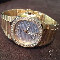 Patek Philippe Nautilus Ladies Rose Gold Diamond Bezel White Dial