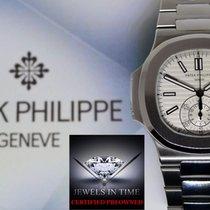 Patek Philippe Mens Nautilus Chronograph Watch Steel Box/Paper...