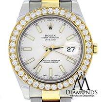 Rolex Date Just Ii 116333 2-tone 18k-s/s 41mm 5ct Gold Diamond...