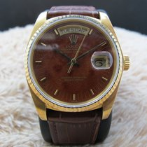Rolex 1985 ROLEX DAY-DATE 18038 18K GOLD WITH ORIGINAL WOOD...