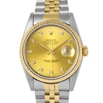 Rolex Datejust Steel & Gold with Original  Diamond Dial,...