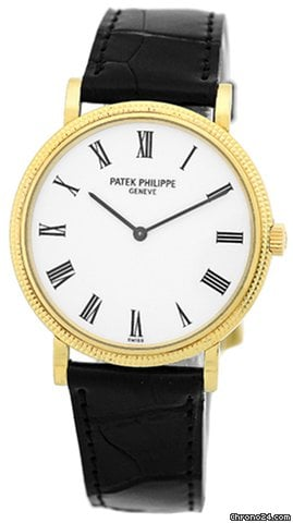 Patek Philippe Gent&amp;#39;s 18K Yellow Gold  Calatrava # 5120-J Strapwatch