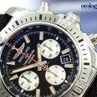 Breitling Chronomat 44 Airborne Steel Watch Black Face...
