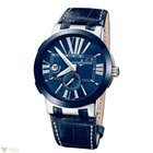 Ulysse Nardin Executive Dual Time Blue Crocodile Leather Men`s...