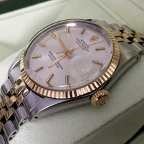 Rolex Oyster Datejust Gold Steel Silver White Dial 36 mm (1967)