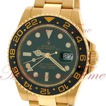 Rolex GMT-Master II, Green Dial, Black Ceramic Bezel - Yellow...