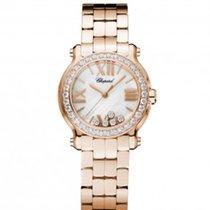 Chopard 274189-5007 Happy Sport30mm Gold Diamonds Pearl Lady