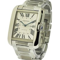 Cartier W5310008 Tank Anglaise Large in Steel - on Steel...