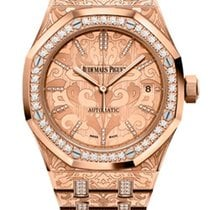 Audemars Piguet Royal Oak 18K Pink Gold & Diamonds Ladies...
