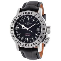 Glycine Airman 18 World Timer Purist Black Dial Automatic...
