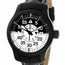 Fortis B-42 Flieger Black Cockpit GMT - Black & White Dial...